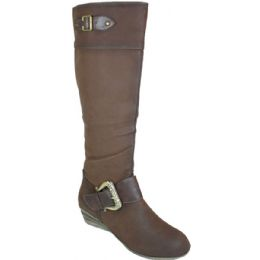 10 Units of Ladies Fashion Long Winter Boot Assorted By 2 Colors Coffee And Camel - Womens Boots