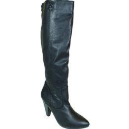 12 Units of Ladies Long Fashion Boot Black Color - Women's Boots