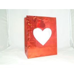 240 Units of Heart Gift Bag Window L - Valentines