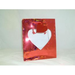 240 Units of Heart Gift Bag Window - M - Valentines