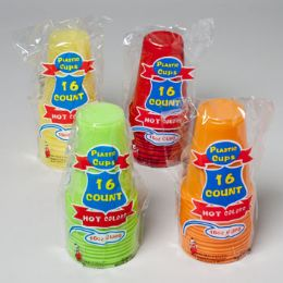 96 Units of 16pk Plastic Cups - Plastic Drinkware