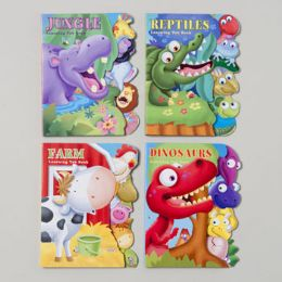 48 Units of Board Books Learning Tab 4 Asst Farm,jungle,reptile & Dinosaurs In Pdq - Educational Toys