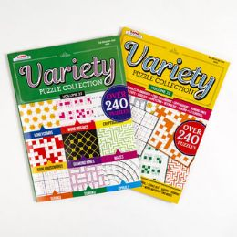 24 Units of Book Variety Puzzle And Game 24pc Counter Display 96 Pg - Crosswords, Dictionaries, Puzzle books