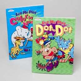 24 Units of Coloring & Activity Books 2 Asst Color By Number And Dot To Dot In Pdq - Coloring & Activity Books