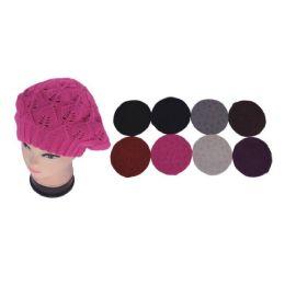 48 Units of Womens 2 Layer Knit Beret - Fashion Winter Hats