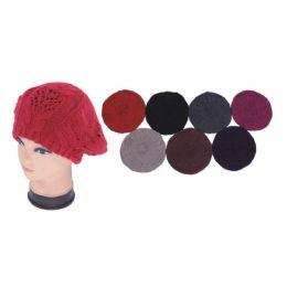 48 Units of 2 Layer Knit Beret - Fashion Winter Hats