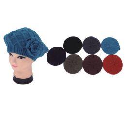 72 Units of Womens Heavy Knit Beret - Fashion Winter Hats