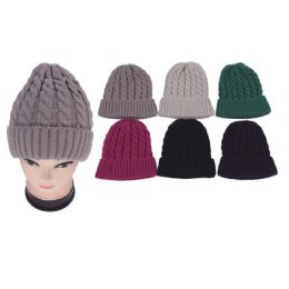 48 Units of Heavy Knit Hats - Fashion Winter Hats