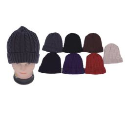 72 Units of Assorted Solid Color Knit Hat - Fashion Winter Hats