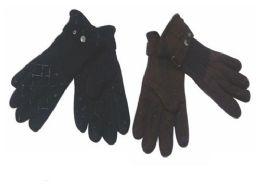 72 Units of Mens Fleece Winter Gloves Dark Colors - Fleece Gloves