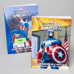 96 Units of Coloring/activity Book Capt America Classics 96pg 2asst Pdq - Coloring & Activity Books