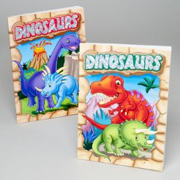 24 Units of Coloring/activity Book Dino's Foil/embossed In 24pc Pdq - Coloring & Activity Books