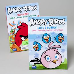 120 Units of Coloring/activity Book Giant Angry Birds 96 Pg In Floor Dsply - Coloring & Activity Books