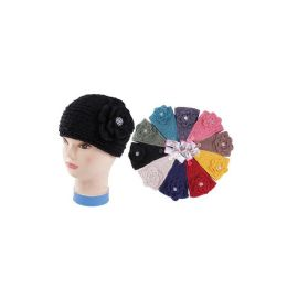 48 Units of HEADBANDWITH RHINESTONE ON THE BOTTON - Headbands