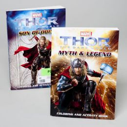96 Units of Coloring/activity Book Thor Movie Version 96pg 2ast In Pdq - Coloring & Activity Books