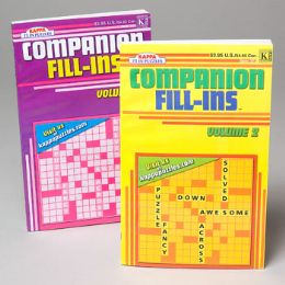 36 Units of Crossword Puzzle Companion Fill- In Pocket Size 2asst - Crosswords, Dictionaries, Puzzle books