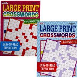 120 Units of Crossword Puzzle Large Print 2asst In 120pc Floor Disp - Crosswords, Dictionaries, Puzzle books