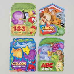 96 Units of Fan Tab U Lus Board Books 4 Asst Colors,numbers,letters & Shapes In Pdq - Coloring & Activity Books
