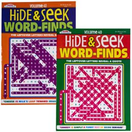 24 Units of Hide And Seek Word Finds 96 Pg - Crosswords, Dictionaries, Puzzle books