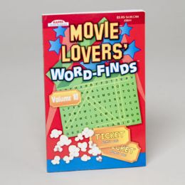 144 Units of Movie Lovers Word Find In Floor Display 2 Asst 128 Pgs - Crosswords, Dictionaries, Puzzle books
