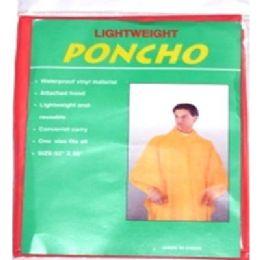 72 Units of Adult Poncho - Umbrellas & Rain Gear