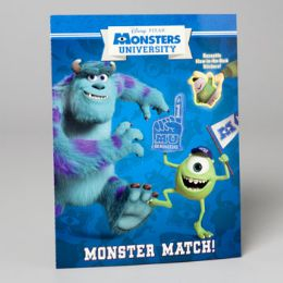 96 Units of Sticker Book Disney Monsters Uni Match - Coloring & Activity Books