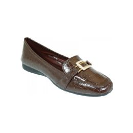 18 Units of Ladies Fashion Flats In Brown