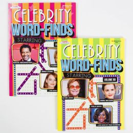 24 Units of Word Find Book Celebrities 96pg In 24pc Counter Display - Crosswords, Dictionaries, Puzzle books