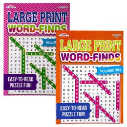 120 Units of Word Find Book Lrg Print 112pg Asst - Crosswords, Dictionaries, Puzzle books