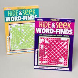 96 Units of Word Find Hide-n-seek 2asst 96 Pgs - Crosswords, Dictionaries, Puzzle books