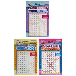 144 Units of Word Find Large Print Travelsize 3asst In 144pc Floor Disp - Crosswords, Dictionaries, Puzzle books