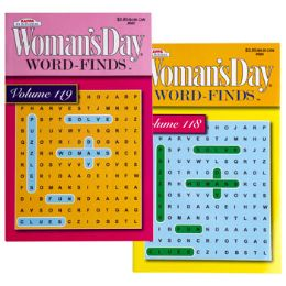 144 Units of Word Find Woman's Day Travel size 2 Assorted - Crosswords, Dictionaries, Puzzle books