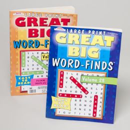 120 Units of Word Finds Great Big 96 Pages 2 Asstd In 120 Ct Floor Display - Crosswords, Dictionaries, Puzzle books