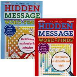 24 Units of Word Finds Hidden Message 2 Asst Pdq - Crosswords, Dictionaries, Puzzle books