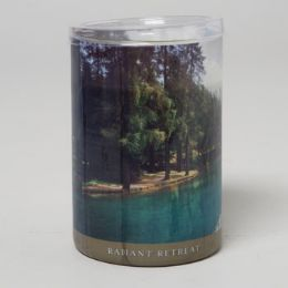 24 Units of Candle 15 Oz Glass Jar Radiant Retreat - Candles & Accessories