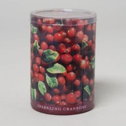 24 Units of Candle 15 Oz Glass Jar Sparkling Cranberry - Candles & Accessories