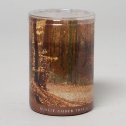 24 Units of Candle 15 Oz Glass Jar Sunlit Amber Trails - Candles & Accessories