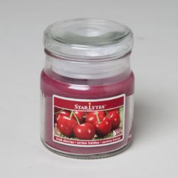 288 Units of Candle Scented Apothecary Jar W/lid 3 Oz Fresh Cherries - Candles & Accessories