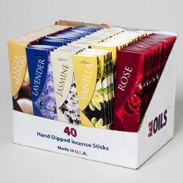 100 Units of Incense Sticks 40 Ct 5 Asstd - Fragrances / Perfumes