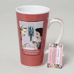 48 Units of Mug Latte 16 Oz Ceramic Postmark Press - Coffee Mugs