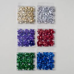96 Units of Bows Mini 2in 9ct 48pc - Christmas Decorations