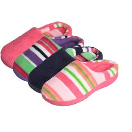 48 Units of Girls' 2-Tone Slip On Indoor Slippers - Girls Slippers