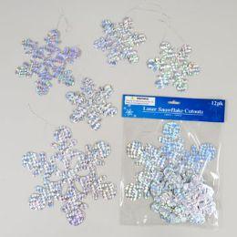 144 Units of Cutouts Snowflakes Laser - Christmas Novelties