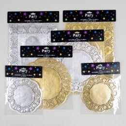 96 Units of Doilies Metallic Paper - Christmas Novelties