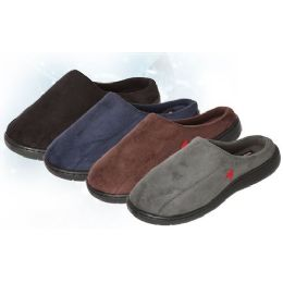 36 Units of Boys Suede Slip On Slipper - Boys Slippers