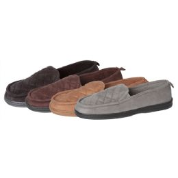 30 Units of Men's Quilted Closed Back Slippers