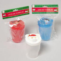 108 Units of Juice Cup Christmas Face - Christmas Novelties