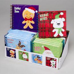 96 Units of Notebook Hardcover Christmas - Christmas Novelties