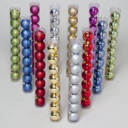 144 Units of Ornament Ball 8pk Shiny/glitter - Christmas Ornament