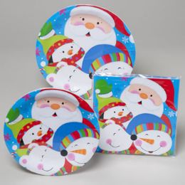 144 Units of Paper Party Tableware 48pc - Christmas Novelties